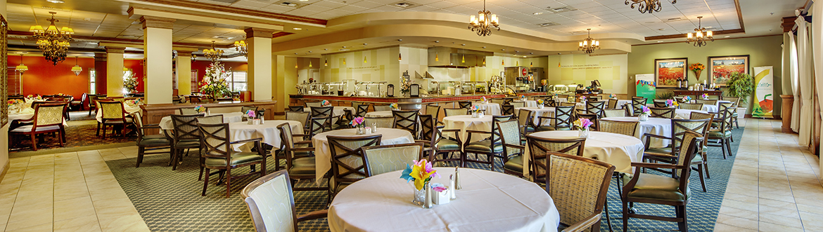 dining room at Covenant Village of Turlock